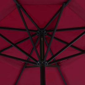 Umbrelă de exterior cu bază portabilă, roșu