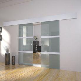 Ușă glisantă dublă din sticlă