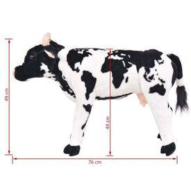 Vacă din pluș de jucărie XXL Alb și negru