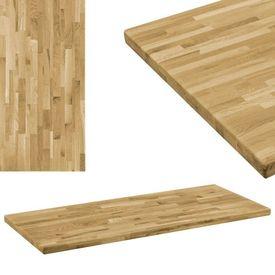 vidaXL Blat masă, lemn masiv stejar, dreptunghiular, 44 mm 100 x 60 cm