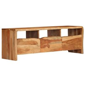 vidaXL Comodă TV, lemn masiv de salcâm cu muchii naturale 120x35x40 cm