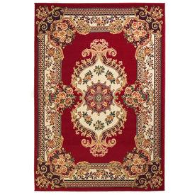 vidaXL Covor persan, design oriental 180x280 cm Roșu/bej