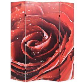 vidaXL Paravan de cameră pliabil, 160x180 cm Trandafir roșu