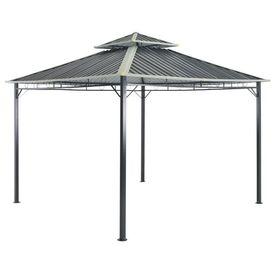 vidaXL Pavilion, gri, 295 x 295 x 265 cm