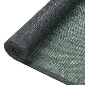 vidaXL Plasă protecție vizuală, verde, 2 x 25 m, HDPE