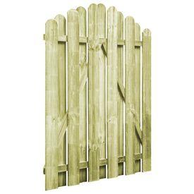 vidaXL Poartă de grădină, lemn de pin impregnat, 100 x 125 cm, arcuit