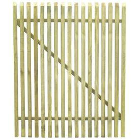 vidaXL Poartă grădină din țăruși, lemn de pin tratat, FSC, 100x125 cm
