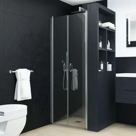 vidaXL Uși cabină de duș, transparent, 75 x 185 cm, ESG