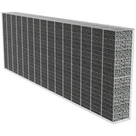 Zid gabion cu capac, 600 x 50 x 200 cm
