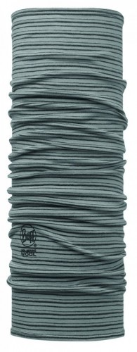 Bandana Buff Lightweight Lana Merino LIGHT GREY STRIPES - 113011.933.10.00