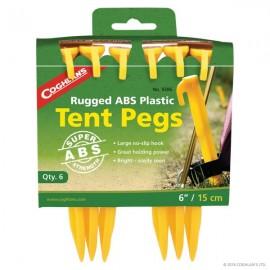 Cuie cort din plastic ABS Coghlans Tent Pegs 15cm set 6 buc - C9306