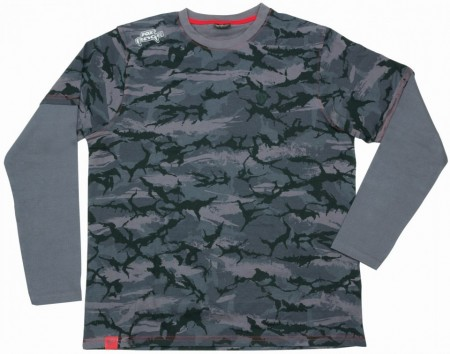 Tricou cu Maneca Lunga Fox Rage® Urban Camo Long Sleeve