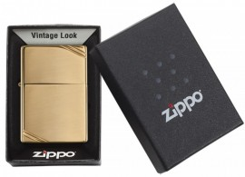 Poze Bricheta Zippo Vintage High Polish Brass Slashes - 270