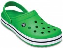 Papuci Crocs Crocband Green / White