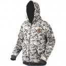 Hanorac Savage Gear Black Camo Zip