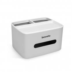 Bewello - Suport-dozator pentru batiste şi şerveţele de hârtie - alb - 205 x 160 x 120 mm