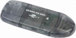 """CARD READER extern GEMBIRD, interfata USB 2.0, citeste/scrie: SD, MMC, RS-MMC; plastic, negru-transparent, """"FD2-SD-1"""""""