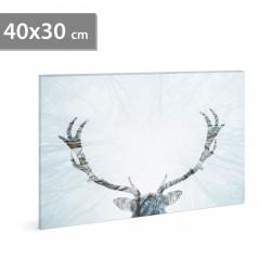 Imagine de dispoziție de perete cu LED - ren - 2 x AA, 40 x 30 cm