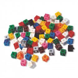 Set 100 cuburi Miniland, 2 cm, plastic