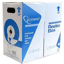 Cablu UTP Gembird sau Digitalbox, , cat 5E, Cupru/Aluminiu, rola 305m, bonus 40 mufe utp