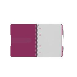 Caiet Herlitz EOTG, A5, cu elastic, 80 file, fucsia
