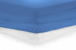 CEARCEAF PAT CU ELASTIC 160X200 CM -BLUE
