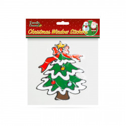 Decor fereastră de Crăciun - pin - 18 x 18 cm