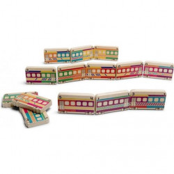 Domino din lemn Trenuletul