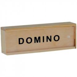 Domino mini in cutie de lemn, 28 piese, 3 ani+