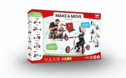 Infento, bicicleta, tricicleta, trotineta modulara 14 in 1, 156 parti, recomandat pentru copii 1- 6 ani