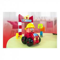 Joc de construit tematic Statie pompieri Miniland, 18 piese