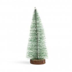 Mini decor pin artificial - 25 cm - înzăpezit, verde