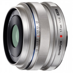 Obiectiv Olympus M.ZUIKO DIGITAL 17mm 1:1.8 / EW-M1718 argintiu
