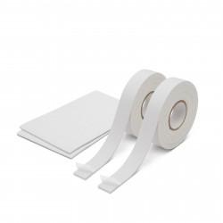 Set bandă/etichete dublu-adezive, spumate 18 mm/2,6m