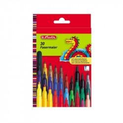 Set carioci Herlitz color, 2 mm, diverse culori, 30 buc/set