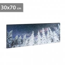 Stare de perete cu LED - pin - 2 x AA, 70 x 30 cm