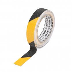 Banda adeziva, antiglisanta - 5m x 25 mm - galben / negru