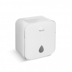 Bewello - Suport pentru hârtie igienică - alb - 205 x 125 x 220 mm