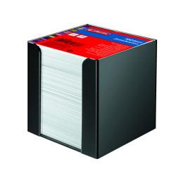 Bloc notite alb Herlitz, 9x9x9 cm, 700 file cu suport