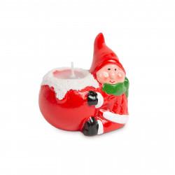 Lumânare de Crăciun - spiriduș - 8,5 x 6,6 x 8 cm