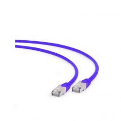 Cablu patchcord gembird RJ45, cat. 6A,FTP, LSZH, 1m, purple
