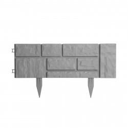 Garden of Eden - Bordură pentru pat de flori / gard - efect cărămidă - 59 x 31 x 2 cm