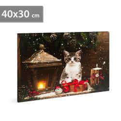 Imagine de dispoziție LED de Crăciun - cu cuier de perete, 2 x AA, 40 x 30 cm
