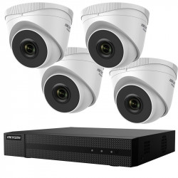 """KIT supraveghere HIKVISION, contine 4 camere tip Turret 2 Mpx, lentila Fixa 2.8 mm, IR 30 m, DVR/NVR 4 canale, Hdd Sata 1 Tb, 4 x 18m cablu UTP, Cablu HDMI 2m, """"HWK-N4142TH-MH"""""""