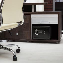 Seif digital cu scanner de amprente și tastatură