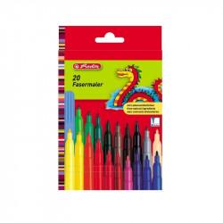Set carioci Herlitz color, 2 mm, diverse culori, 20 buc/set