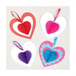 Set inimioare fagure decorative Baker Ross multicolor