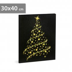 Tablou de Crăciun cu LED, 30 x 40 cm