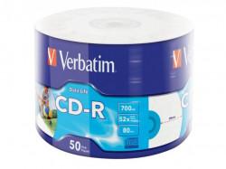Verbatim CD-R 52X INKJET PRINT 700MB 50 PACK WRAP EXTRA PROTECTION