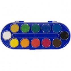 Acuarele Herlitz Locomotif, 12 culori